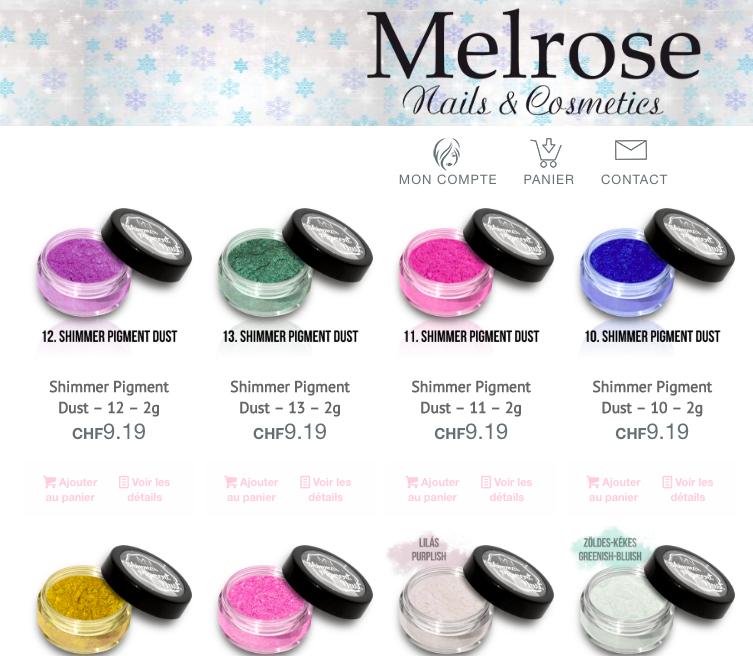 poudres de pigment
