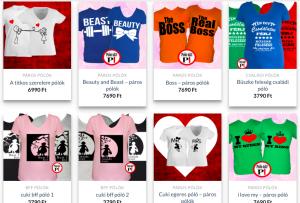 szerelmes pólók